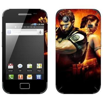 Виниловая наклейка «Resident Evil игра» на телефон Samsung Galaxy Ace
