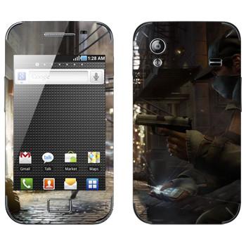 Виниловая наклейка «Watch Dogs  - Невидимый» на телефон Samsung Galaxy Ace