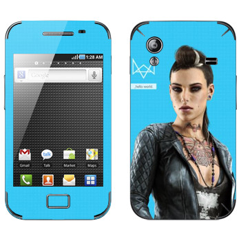 Виниловая наклейка «Watch Dogs - Клара Лилл» на телефон Samsung Galaxy Ace
