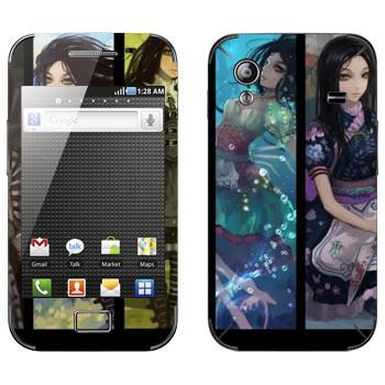 Виниловая наклейка «Алиса  - Арт к игре Alice: Madness Returns» на телефон Samsung Galaxy Ace