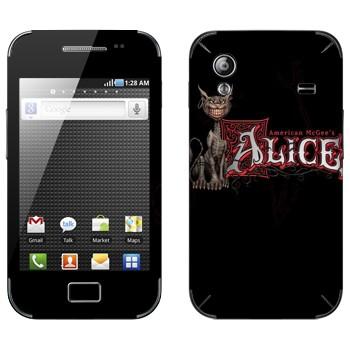Виниловая наклейка «Чеширский Кот - American McGee's Alice» на телефон Samsung Galaxy Ace