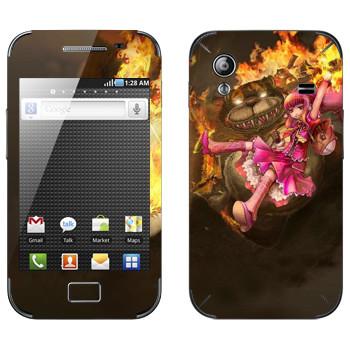 Виниловая наклейка «Энни - Дитя тьмы» на телефон Samsung Galaxy Ace