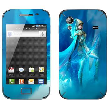 Виниловая наклейка «Эш - Ледяная лучница» на телефон Samsung Galaxy Ace