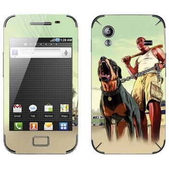 Виниловая наклейка «GTA 5 - Dawg» на телефон Samsung Galaxy Ace