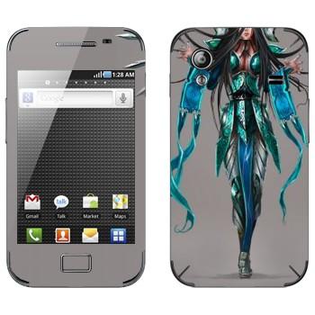 Виниловая наклейка «Ирелия - Воля клинков» на телефон Samsung Galaxy Ace