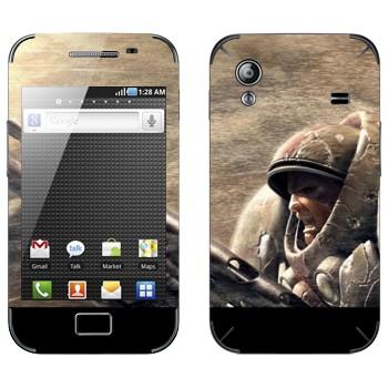 Виниловая наклейка «Морпех - StarCraft 2» на телефон Samsung Galaxy Ace