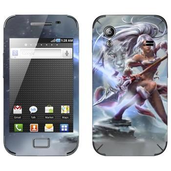 Виниловая наклейка «Нидали - Дикая охотница» на телефон Samsung Galaxy Ace