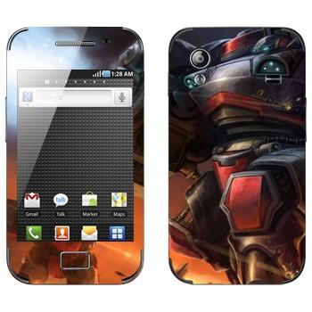 Виниловая наклейка «Огнеметчик - StarCraft 2» на телефон Samsung Galaxy Ace