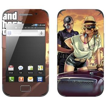 Виниловая наклейка «Полиция GTA» на телефон Samsung Galaxy Ace