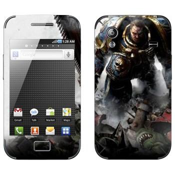 Виниловая наклейка «Воин - Warhammer 40k» на телефон Samsung Galaxy Ace
