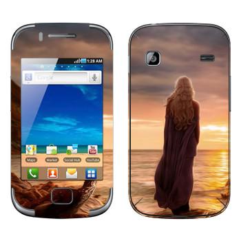 Виниловая наклейка «Дайнерис и закат - Игра престолов» на телефон Samsung Galaxy Gio