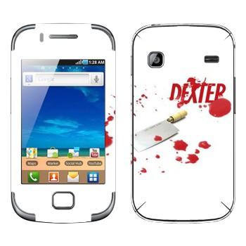Виниловая наклейка «Декстер» на телефон Samsung Galaxy Gio