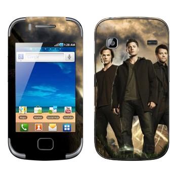 Виниловая наклейка «Дин, Сэм, Кастиэль - Сверхъестественное» на телефон Samsung Galaxy Gio