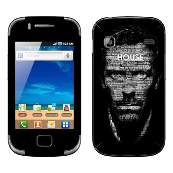 Виниловая наклейка «Доктор Хаус типографика» на телефон Samsung Galaxy Gio