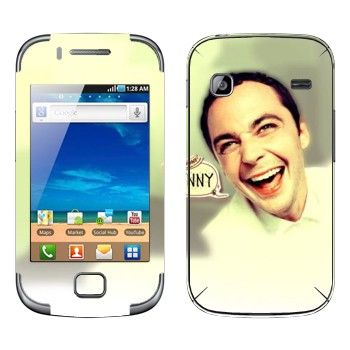 Виниловая наклейка «Доктор Шелдон Ли Купер» на телефон Samsung Galaxy Gio