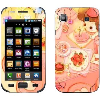 Виниловая наклейка «День рождения» на телефон Samsung Galaxy S