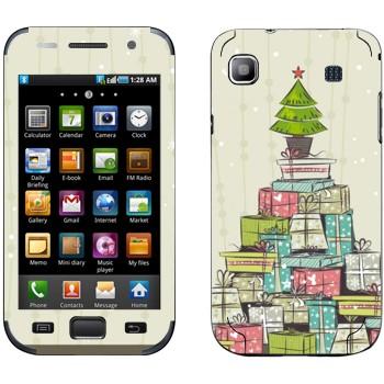Виниловая наклейка «Новогодние подарки» на телефон Samsung Galaxy S