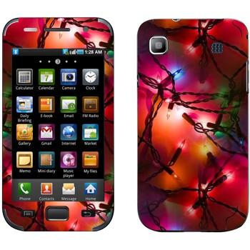 Виниловая наклейка «Новогодняя герлянда» на телефон Samsung Galaxy S