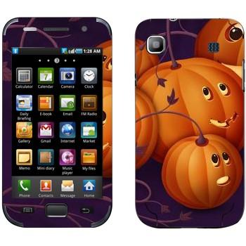 Виниловая наклейка «Няшные тыковки - Хэллоуин» на телефон Samsung Galaxy S