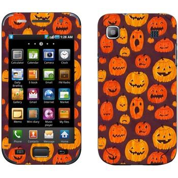 Виниловая наклейка «Разные тыквы к Хэллоуину» на телефон Samsung Galaxy S
