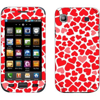 Виниловая наклейка «Сердечки - День Святого Валентина» на телефон Samsung Galaxy S