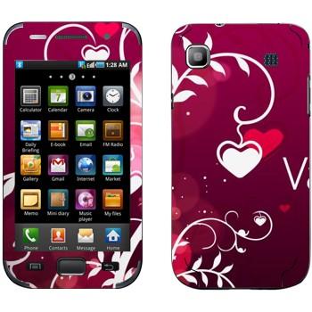Виниловая наклейка «Сердечки на День Святого Валентина» на телефон Samsung Galaxy S