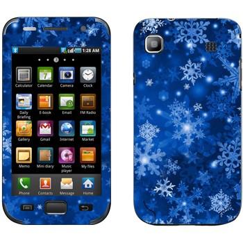 Виниловая наклейка «Снежинки - Новый Год» на телефон Samsung Galaxy S