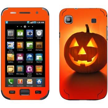 Виниловая наклейка «Тыква на Хэллоуин» на телефон Samsung Galaxy S