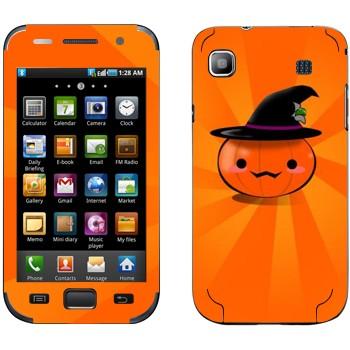 Виниловая наклейка «Тыква в шляпе - Хэллоуин» на телефон Samsung Galaxy S