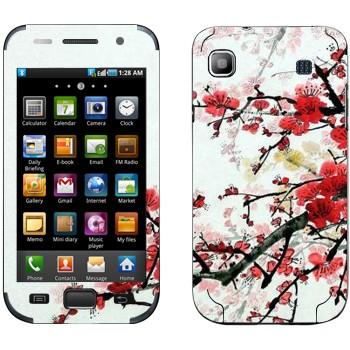 Виниловая наклейка «Цветущая сакура» на телефон Samsung Galaxy S