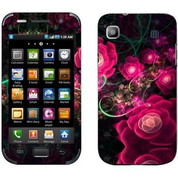 Виниловая наклейка «Цветущие маки абстракция» на телефон Samsung Galaxy S