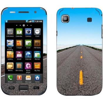 Виниловая наклейка «Дорога убегает к горизонту» на телефон Samsung Galaxy S