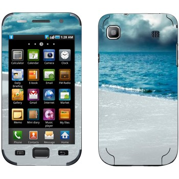Виниловая наклейка «Грозовые облака над морем» на телефон Samsung Galaxy S