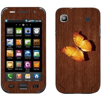 Виниловая наклейка «Желтая бабочка на дереве» на телефон Samsung Galaxy S