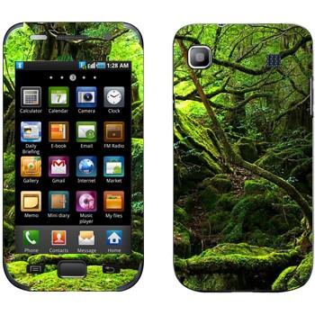 Виниловая наклейка «Лес во мху» на телефон Samsung Galaxy S