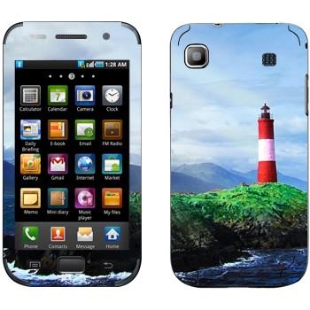 Виниловая наклейка «Маяк на скале» на телефон Samsung Galaxy S