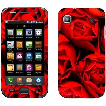 Виниловая наклейка «Много роз» на телефон Samsung Galaxy S