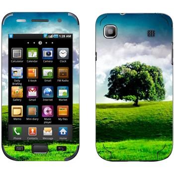 Виниловая наклейка «Одинокое дерево на лугу» на телефон Samsung Galaxy S