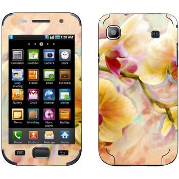 Виниловая наклейка «Орхидея» на телефон Samsung Galaxy S