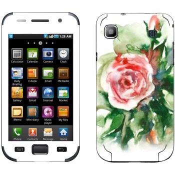 Виниловая наклейка «Роза акварелевой краской» на телефон Samsung Galaxy S