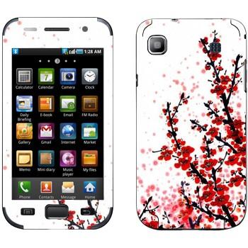 Виниловая наклейка «Сакура  цветет» на телефон Samsung Galaxy S