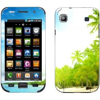 Виниловая наклейка «Тропический пляж» на телефон Samsung Galaxy S