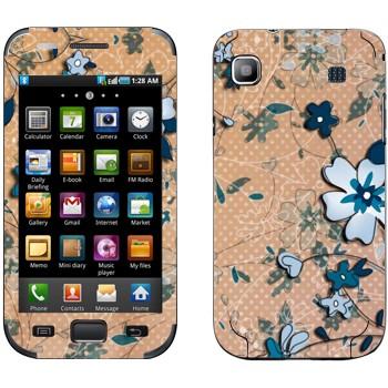 Виниловая наклейка «Васильковый рисунок» на телефон Samsung Galaxy S