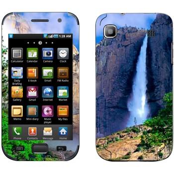Виниловая наклейка «Водопад» на телефон Samsung Galaxy S