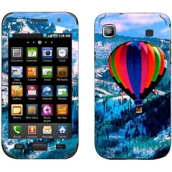Виниловая наклейка «Воздушный шар над заснеженными холмами» на телефон Samsung Galaxy S
