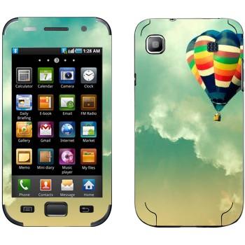 Виниловая наклейка «Воздушный шар в небе» на телефон Samsung Galaxy S