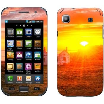 Виниловая наклейка «Закат в деревне» на телефон Samsung Galaxy S