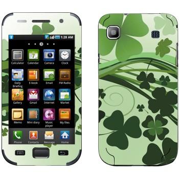 Виниловая наклейка «Зеленый клевер» на телефон Samsung Galaxy S