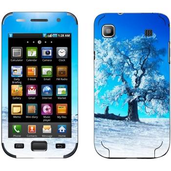 Виниловая наклейка «Зимнее дерево» на телефон Samsung Galaxy S