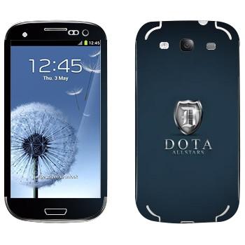 Виниловая наклейка «DotA Allstars» на телефон Samsung Galaxy S3